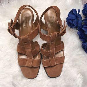 Anne Klein brown heel sandals